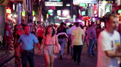 PATTAYA, THAILAND - FEBRUARY 2014: Nightlife with prostitution Stock Footage