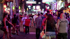 PATTAYA, THAILAND - FEBRUARY 2014: Nightlife with prostitution - stock footage