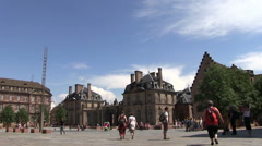 France - Alsace - Streetlife in Strasbourg Stock Footage