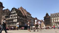 Timelapse - France - Alsace - Streetlife in Strasbourg Stock Footage