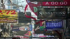 Stock Video Footage of PATTAYA, THAILAND - FEBRUARY 2014: Nightlife with prostitution