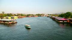 Kanchanaburi city vew, thailand Stock Footage