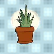 Stock Illustration of small cactus houseplant