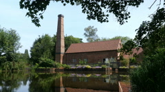 Sarehole water mill and mill pond 1771, in Birmingham, England. Stock Footage