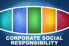 Corporate social responsibility Stock Illustration