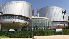 France - Alsace - Strasbourg - European Court of Human Rights Stock Footage