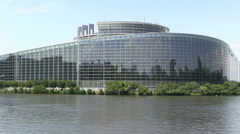 France - Strasbourg - European Parliament Stock Footage