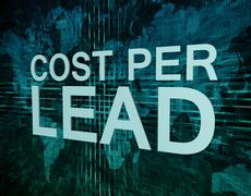 cost per lead - stock illustration