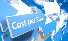 Stock Illustration of cost per sale
