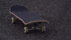 Lonely skate board Stock Footage