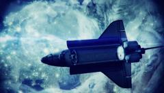 Space Shuttle in space - stock footage
