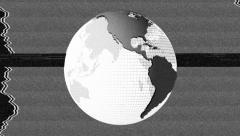 Glitch Spinning Earth Globe-01 - stock footage