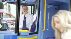 Senior Couple Enjoying Journey On Bus Stock Footage