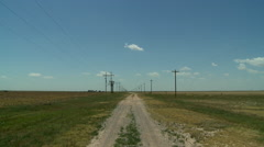 Border of Texas and Oklahoma Panhandles Stock Footage