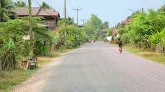 Everyday life of Champasak, Laos Stock Footage