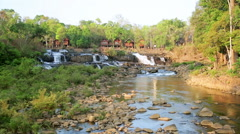 Tad Lo Village Waterfall, Pakse, Laos Stock Footage
