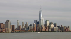 Day To Night Time-lapse Sequence Of Manhattan Skyline - stock footage