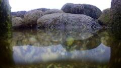 Tide Rising in Rocks Underwater Stock Footage