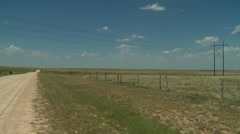Texas Panhandle back road Stock Footage