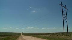 Texas Panhandle power lines 2 Stock Footage
