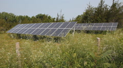 Solar arrays in rural area. Stock Footage