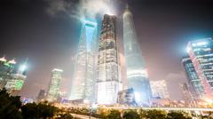 4k resolution landmark  buildings in Shanghai Stock Footage