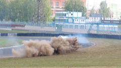 Drift Smolensk Ring 4 Stock Footage
