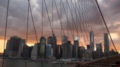 Brooklyn Bridge in NYC Kuvituskuvat