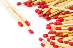 Matchstick isolated Stock Photos