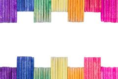 colorful wood ice-cream stick - stock photo