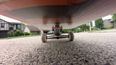 Skateboard Point of View Stock Footage