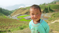 SAPA, VIETNAM - MAY 2014: native Akha kids, Stock Footage