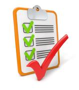 Checklist success Stock Illustration