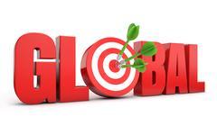 global target seo - stock illustration