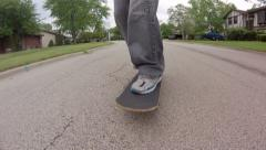 Skateboarding Close Up - stock footage