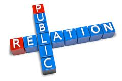 Crossword public relation Stock Illustration