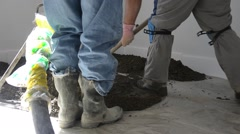 Smooth Concreting the floor Stock Footage