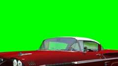 Oldtimer Car driving animation - green screen Stock Footage