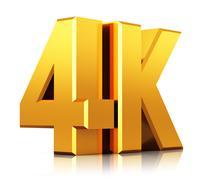 4K UltraHD TV logo Stock Illustration