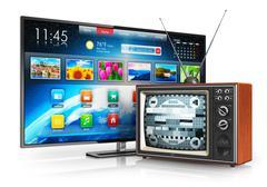 Evolution of television - stock illustration