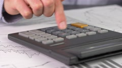 4K Calculation Business Man At Work - stock footage