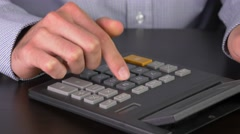 4K Calculations With Calculator - stock footage