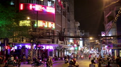SAIGON, VIETNAM - MAY 2014: Nightlife with bars and pubs - stock footage