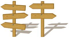 Wood signs Stock Illustration