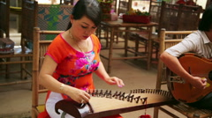 MEKONG DELTA, VIETNAM - 14 MAY 2014: traditional singers Stock Footage
