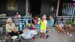 MEKONG DELTA, VIETNAM - MAY 2014: Ordinary life - stock footage
