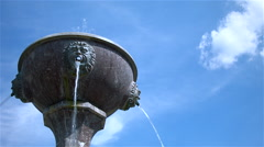 fountain with blue sky - stock footage