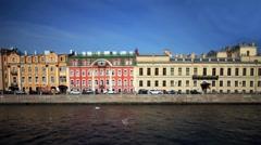 View of St. Petersburg Film Tilt Stock Footage