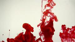 Cloud of red ink in water, blood, abstract backgrounds Stock Footage