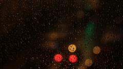 Lights on a Rainy Night by Crystal Stock Footage